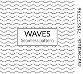 waves seamless background.... | Shutterstock .eps vector #719277796