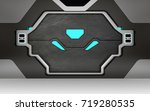 futuristic metallic door or... | Shutterstock . vector #719280535
