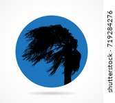 palm in the wind. flat icon. | Shutterstock .eps vector #719284276