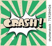 cartoon  crash explosion comic... | Shutterstock .eps vector #719284426