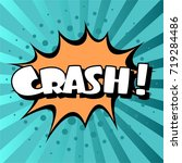 cartoon  crash explosion comic... | Shutterstock .eps vector #719284486