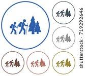 hiking icon illustration...   Shutterstock .eps vector #719292646