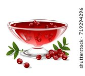cranberry jelly   Shutterstock .eps vector #719294296