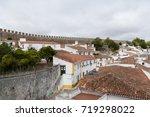 obidos portugal. view of obidos   Shutterstock . vector #719298022