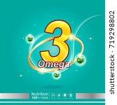 nutrition omega calcium and... | Shutterstock .eps vector #719298802