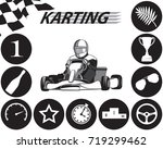 karting infographic in black... | Shutterstock .eps vector #719299462