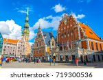 riga  latvia  august 15  2016 ... | Shutterstock . vector #719300536