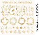 christmas design elements | Shutterstock .eps vector #719300806