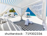 comfortable lounge canopy on... | Shutterstock . vector #719302336