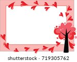 tree and heart shape blank...   Shutterstock .eps vector #719305762