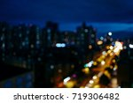 the cityscape of the night | Shutterstock . vector #719306482