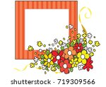 flowers with card border   Shutterstock .eps vector #719309566
