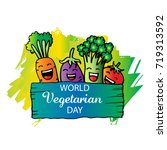 world vegetarian day | Shutterstock .eps vector #719313592