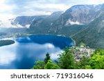 hallstatt mountain village in... | Shutterstock . vector #719316046