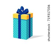 gift box with ribbon and bow... | Shutterstock .eps vector #719317336