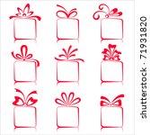 illustration of set of gift... | Shutterstock .eps vector #71931820
