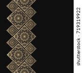 golden frame in oriental style. ... | Shutterstock .eps vector #719319922