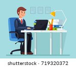 business man  entrepreneur in a ... | Shutterstock .eps vector #719320372