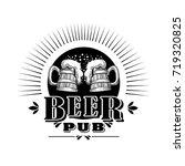 beer logo vector.   Shutterstock .eps vector #719320825