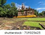 wat chet yot  seven pagoda... | Shutterstock . vector #719325625