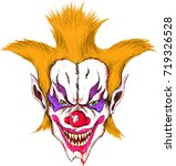 the vecnor evil clown of... | Shutterstock .eps vector #719326528