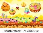 sweet candy land. cartoon game...