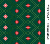 christmas pattern with...   Shutterstock .eps vector #719335312