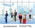 vector illustration of men and... | Shutterstock .eps vector #719337796