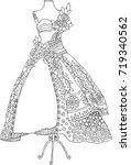 hand drawn dress. sketch for... | Shutterstock .eps vector #719340562