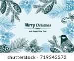 vintage design for christmas... | Shutterstock .eps vector #719342272