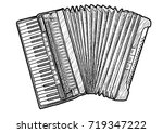 accordion illustration  drawing ... | Shutterstock .eps vector #719347222