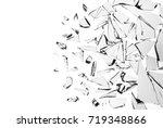 broken glass on white... | Shutterstock . vector #719348866