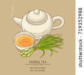 lemongrass tea illustration | Shutterstock .eps vector #719352988