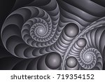 gems and melting plastic. black ... | Shutterstock . vector #719354152