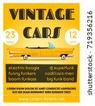 vintage car show banner. old... | Shutterstock .eps vector #719356216