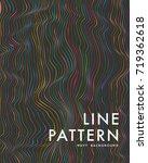 dark wavy line pattern ... | Shutterstock .eps vector #719362618