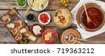 traditional italian vegetarian... | Shutterstock . vector #719363212
