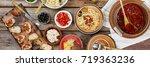 traditional italian vegetarian... | Shutterstock . vector #719363236
