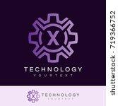 technology initial letter x... | Shutterstock .eps vector #719366752