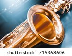saxophone. jazz music. | Shutterstock . vector #719368606