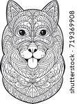 coloring. husky dog   Shutterstock .eps vector #719369908