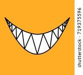 happy halloween evil smile on... | Shutterstock .eps vector #719375596