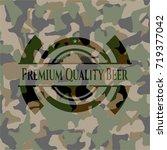 premium quality beer on camo... | Shutterstock .eps vector #719377042