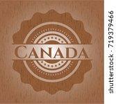 canada wooden emblem. vintage. | Shutterstock .eps vector #719379466