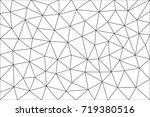 triangular  polygonal blank for ... | Shutterstock .eps vector #719380516
