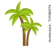 raster illustration palm tree... | Shutterstock . vector #719380576