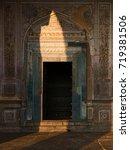 Small photo of Muslim stone carved tomb doorway Ibrahim Rouza in Bijapur