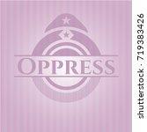 oppress vintage pink emblem | Shutterstock .eps vector #719383426