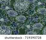 floral background with... | Shutterstock .eps vector #719390728
