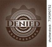 denied wood emblem. vintage. | Shutterstock .eps vector #719390752